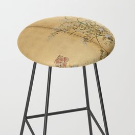 Japanese Edo Period Six-Panel Gold Leaf Screen - Spring and Autumn Flowers Bar Stool