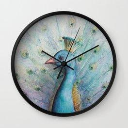 """""""Proud Peacock Profile"""" Wall Clock"""