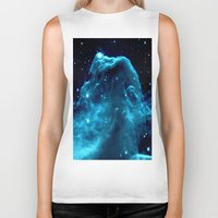 nebula Biker Tanks featuring NeBula by GalaxyDreams