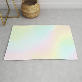 Pale Pastel Abstract Design Rug