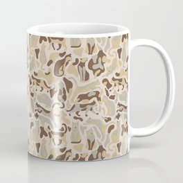 Camouflage pattern with CATS Coffee Mug