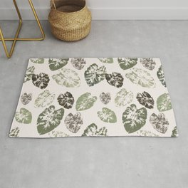 Kalo leaf print Rug