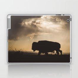Bison in the Storm - Badlands National Park Laptop & iPad Skin