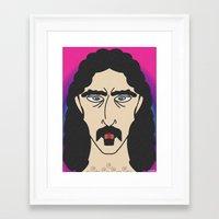 zappa Framed Art Prints featuring ZAPPA by Laertis Art
