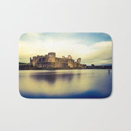 Caerphilly Castle (Cross Processed) Bath Mat