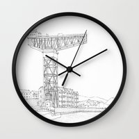 titan Wall Clocks featuring Titan Crane by Grambo