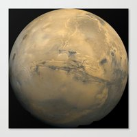 30 seconds to mars Canvas Prints featuring Mars by Planet Prints