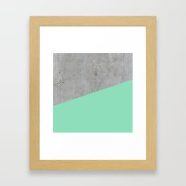 Concrete and Sea Color Framed Art Print