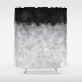 Snow Clouds in the Dark - Abstract Shower Curtain