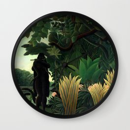 Henri Rousseau - The Snake Charmer - La Charmeuse de Serpents Wall Clock
