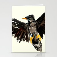 singapore Stationery Cards featuring Singapore Bird by June Chang Studio