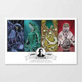 H. P. Lovecraft Tribute Canvas Print