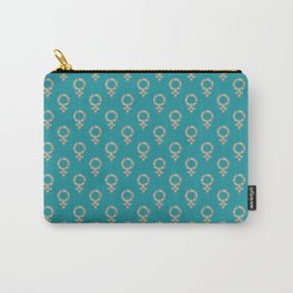 Fearless Female Teal Carry-All Pouch