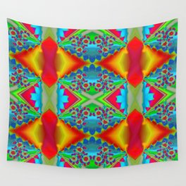 Flowers Colours QR Wall Tapestry