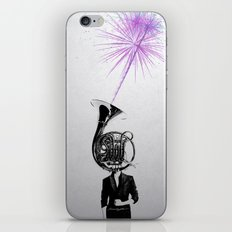 horn player iPhone & iPod Skin