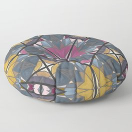 Mexican Tile Pattern Yellow Pink Floor Pillow