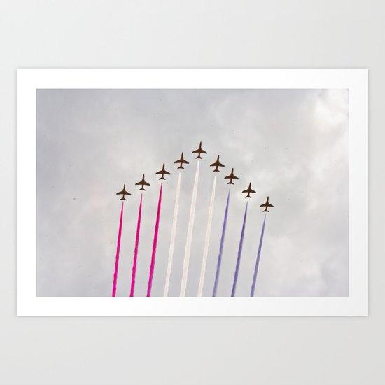 Olympic Flypast Art Print