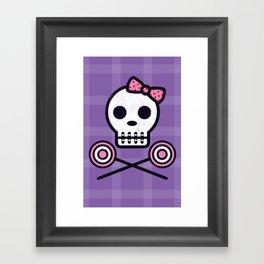 Skull Series SWEET TOOTH SKULL Framed Art Print