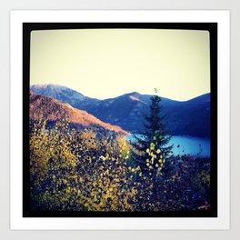Snow in the Rockies Art Print