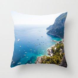 Capri, bay of Naples, Italy Throw Pillow