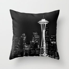 Needle of Space Throw Pillow