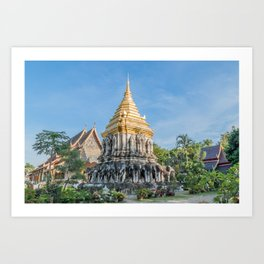 Wat Chiang Man II_Thailand Art Print