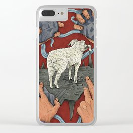 SCAPEGOAT Clear iPhone Case