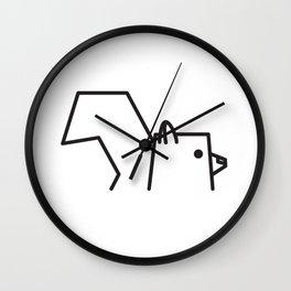 Minimalist Squirrel Wall Clock
