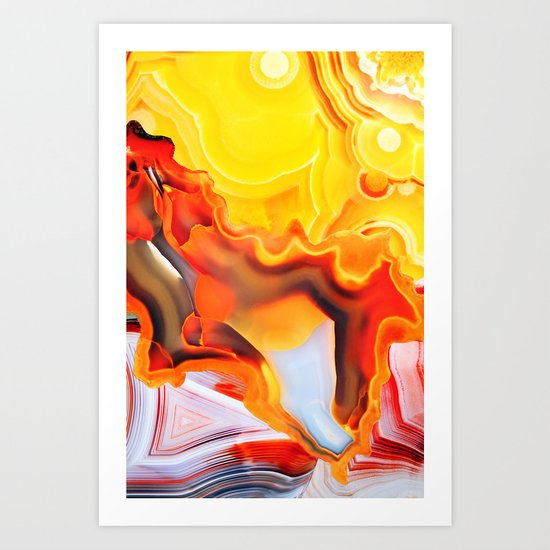 Earth's Fantasy, from the Lithosphere emerges Beauty - Agate Art Print