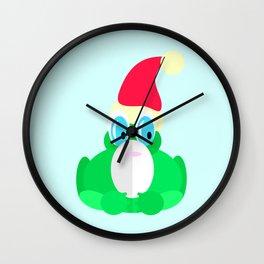 Father Christmas Frog Wall Clock