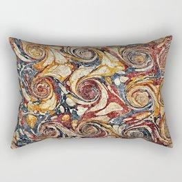 Vintage Marbled Paper Swirls Pattern Rectangular Pillow