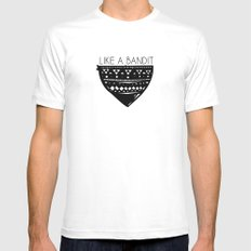 Like a Bandit White MEDIUM Mens Fitted Tee