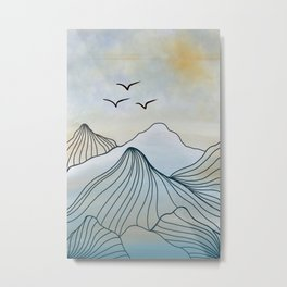 Mountain Top View Metal Print