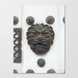Cartagena Lion Mug, Colombia, South American Canvas Print