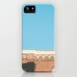 Up to blue clear summer skies - a Utrecht house at sundown golden hour photography iPhone Case