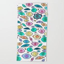 Cosmic Eyes On You Beach Towel