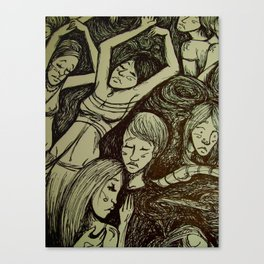 Figures in the dark detail  Canvas Print