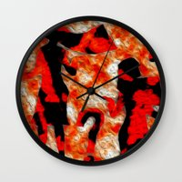 mom Wall Clocks featuring Mom by Vibrance MMN