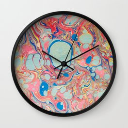 Bubblegum Candy Colors Jawbreaker Layers Pour painting Liquid Colors Funky Psychedelic Lava Lamp Wall Clock