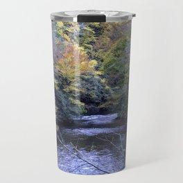 Autumn Forest River Travel Mug