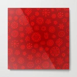 Red on Red Print Metal Print
