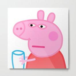 Peppa Pig Meme Metal Print
