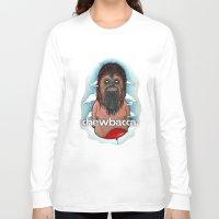 chewbacca Long Sleeve T-shirts featuring CHEWBACCA by Morbix