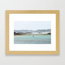Walking on the shore Framed Art Print