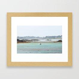 Walking on the shore Framed Art Print