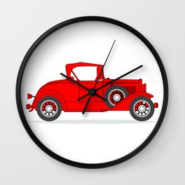 Early Motor Car Wall Clock
