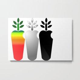 Carrot Logotype Metal Print