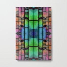 Pattern multicolored 3 Metal Print