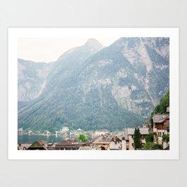 Hallstatt Landscape Art Print