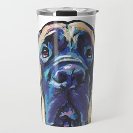 Fun ENGLISH MASTIFF Dog bright colorful Pop Art Painting by LEA Travel Mug